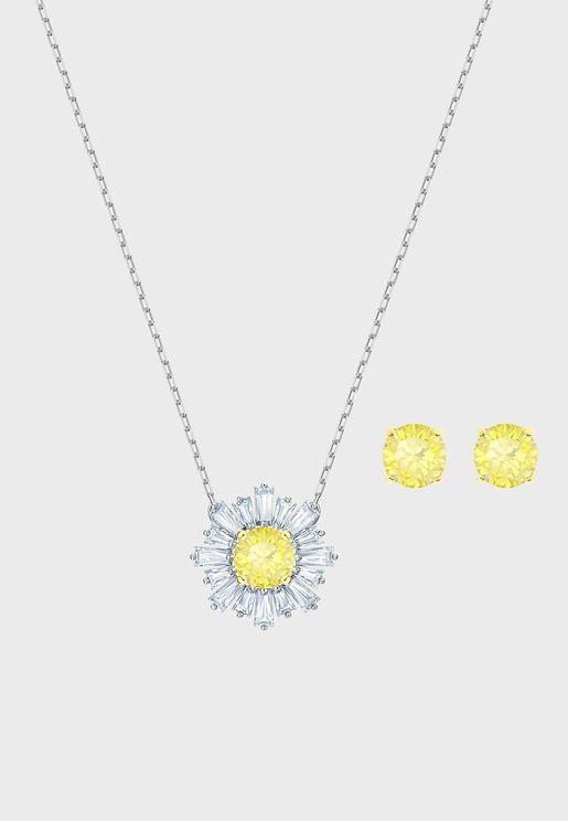 Sunshine Necklace+Earrings Set