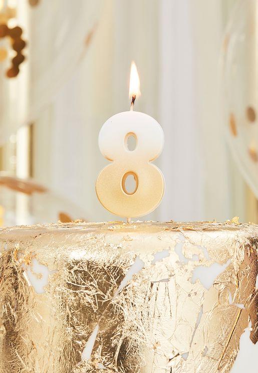 شمعة بلون ذهبي - رقم 8