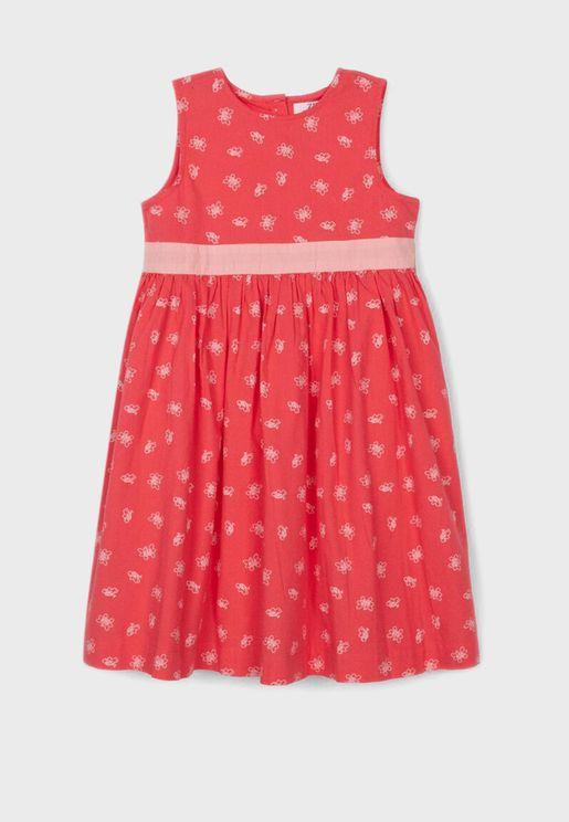 Kids Butterfly Print Dress