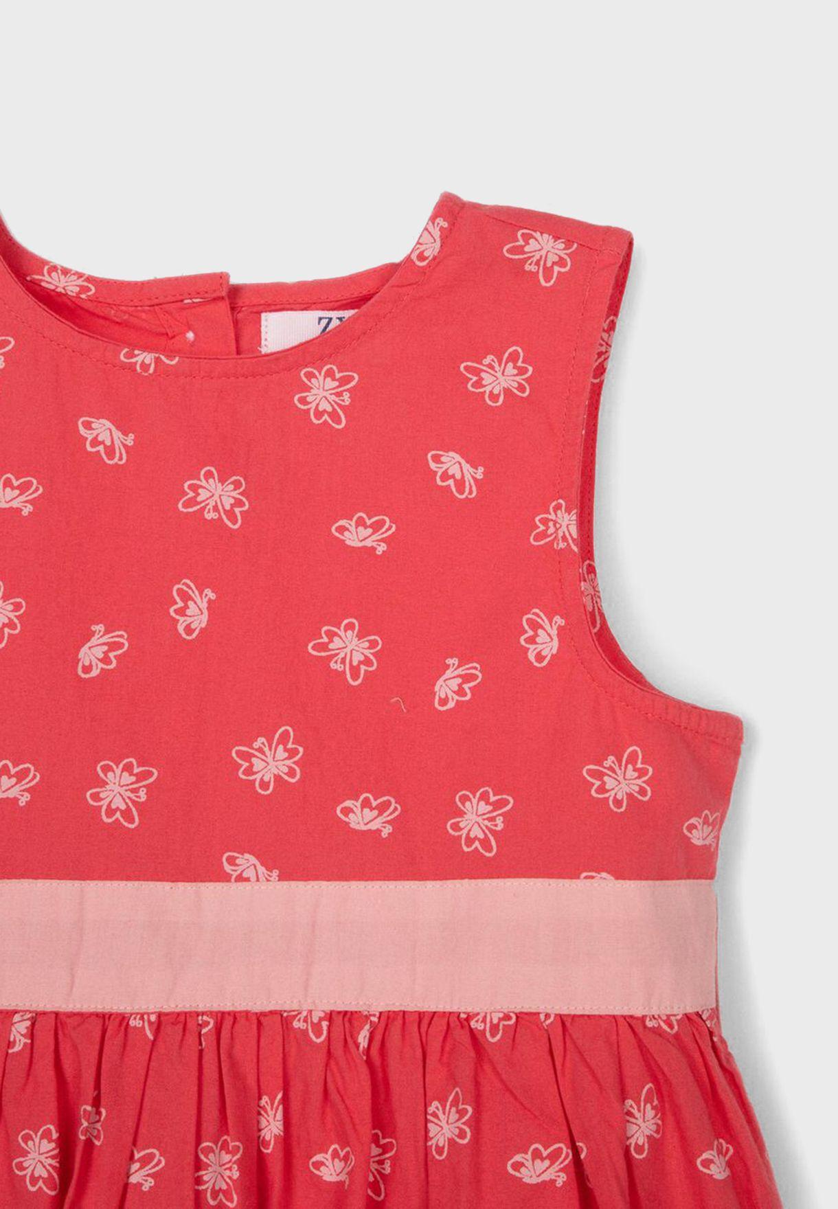 فستان بطباعة فراشة