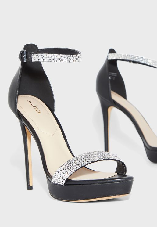 Stunning Ankle Strap Pump - Black