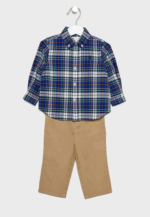 Infant Checked Shirt + Trousers Set