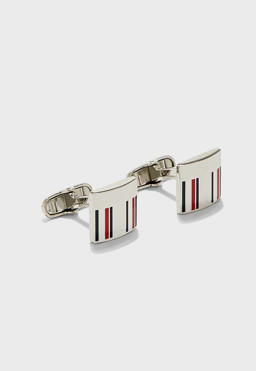 Corp Stripe Cufflink