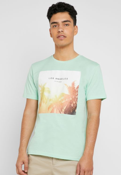 Lamani Camp Fitted Crew Neck T-Shirt