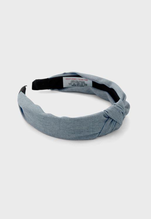 Denim Knot Twist Headband
