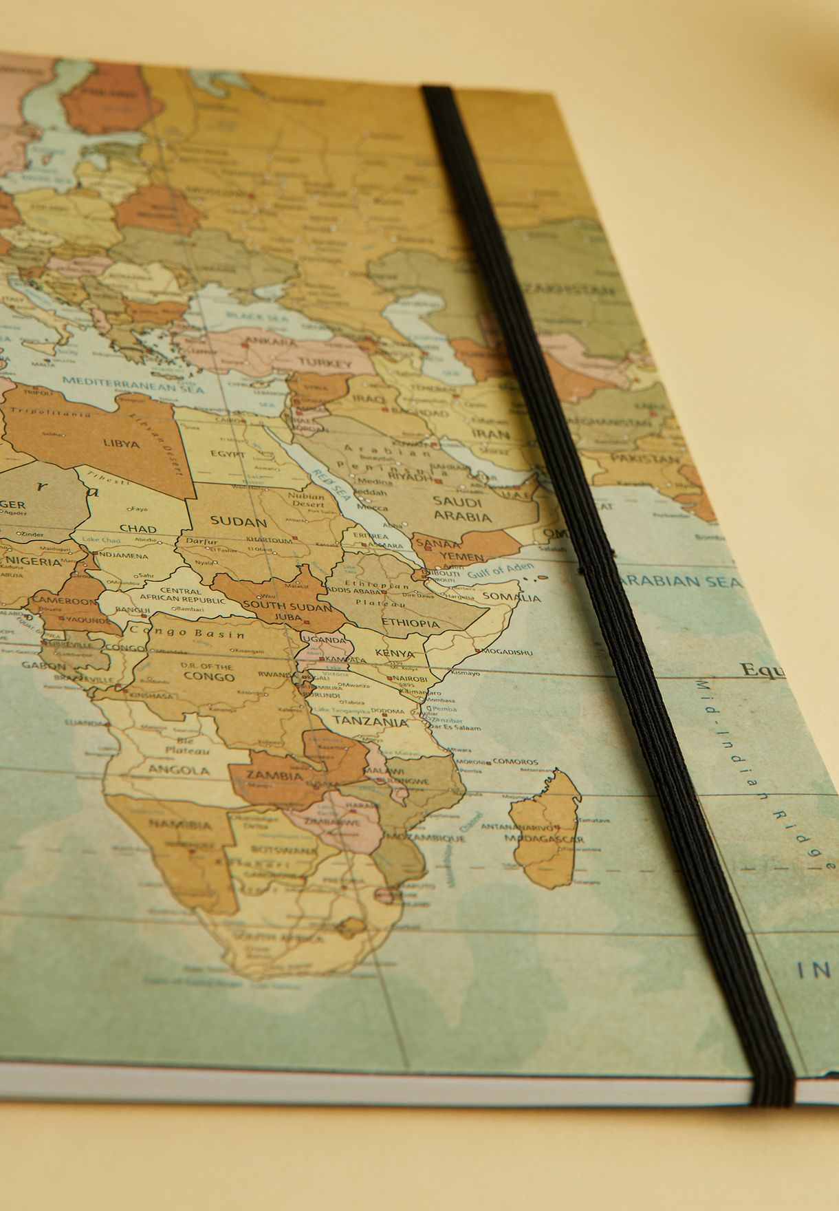 A4 Africa Map Spinout Notebook