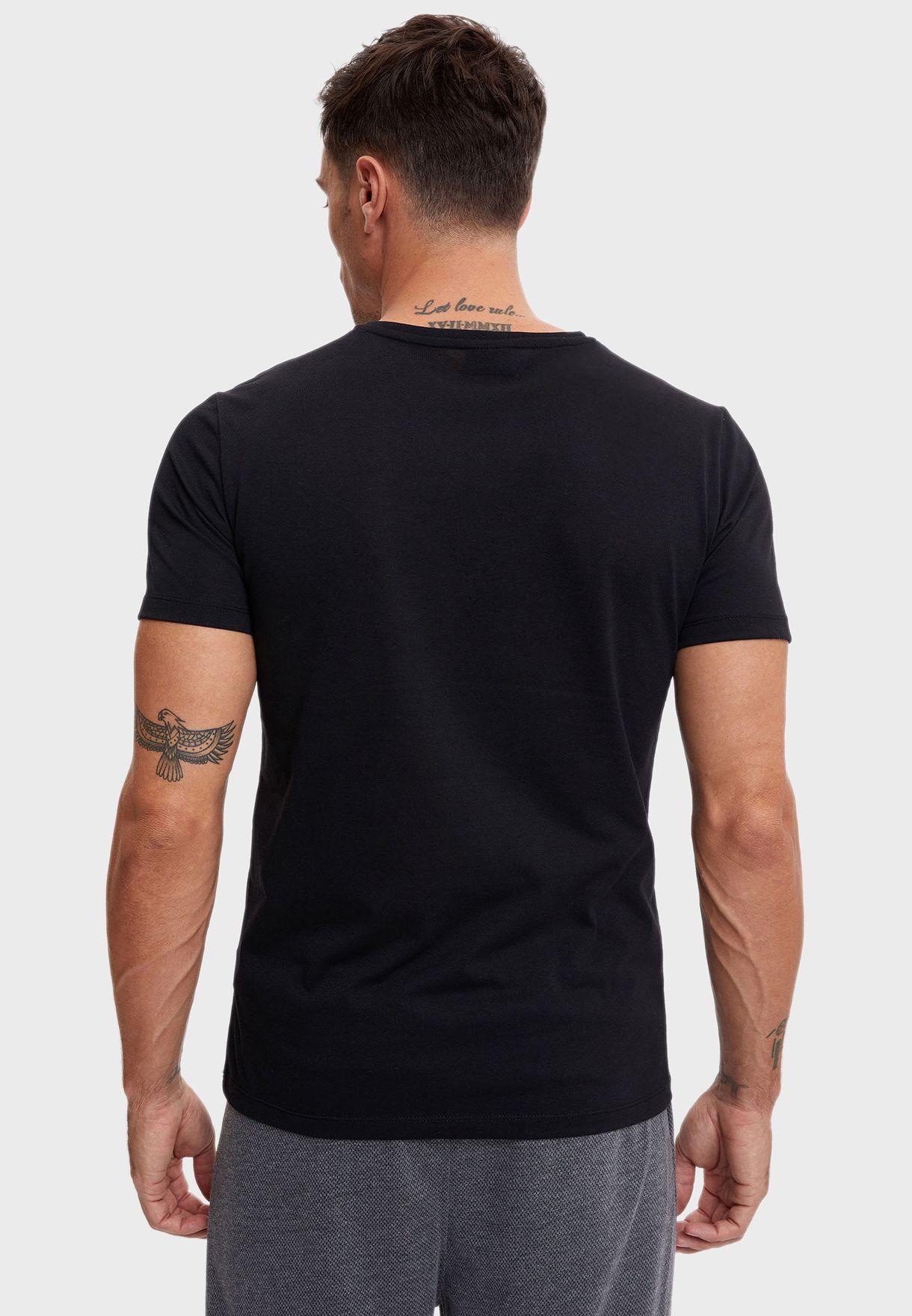 3 Pack Assorted V-Neck T-Shirt