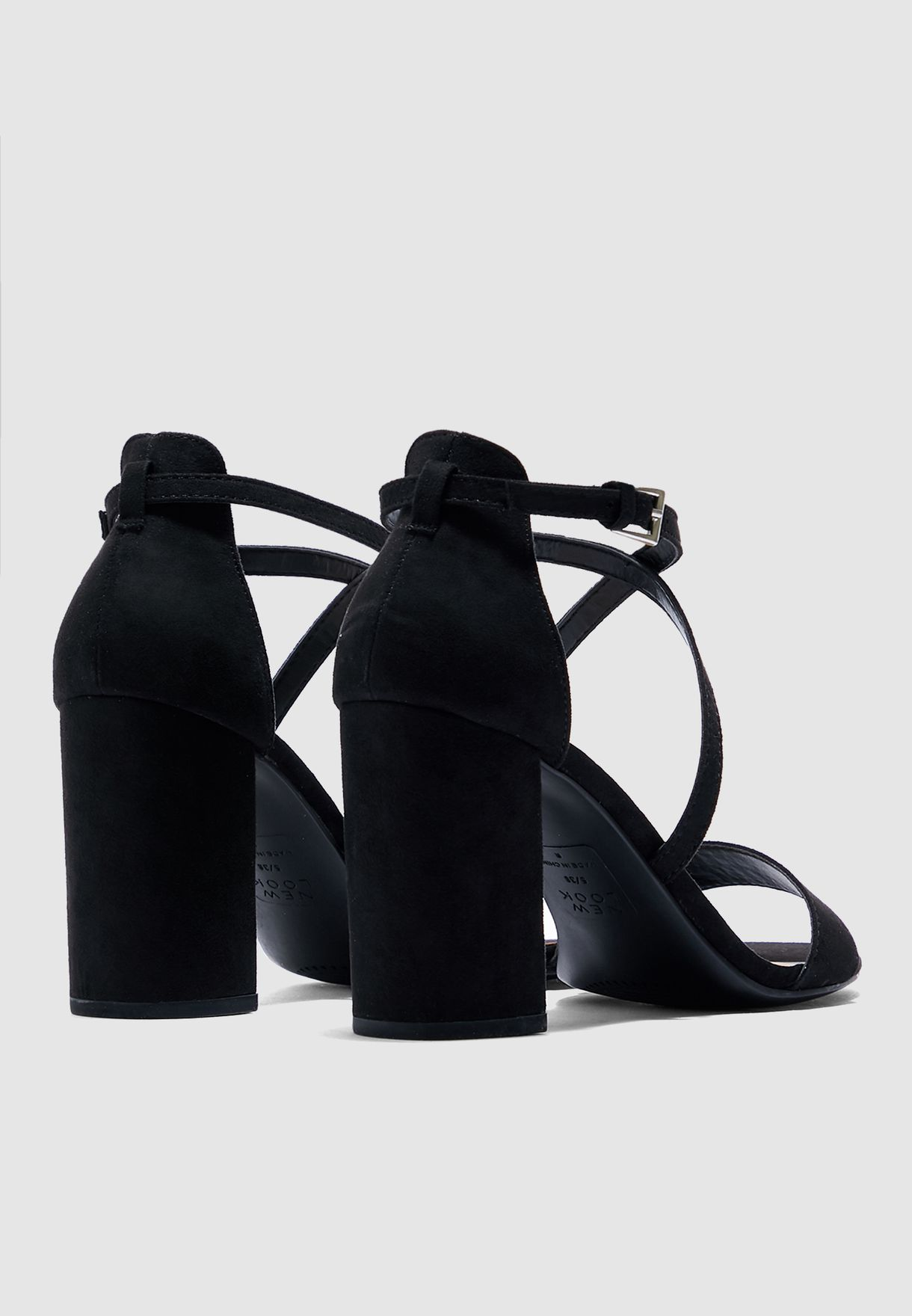 Scoop Block Heel Sandal - Black