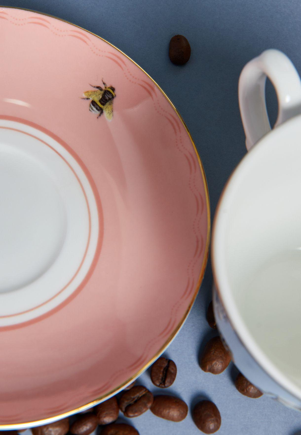 طقم فنجان شاي وصحن