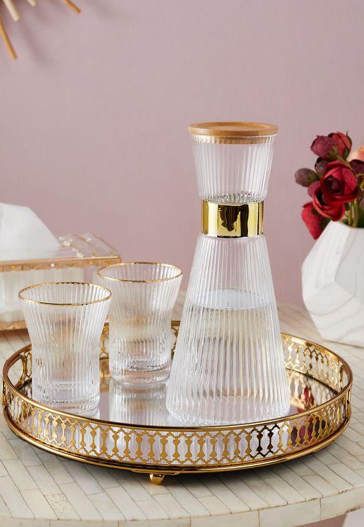 Glass Carafe & Glasses Set
