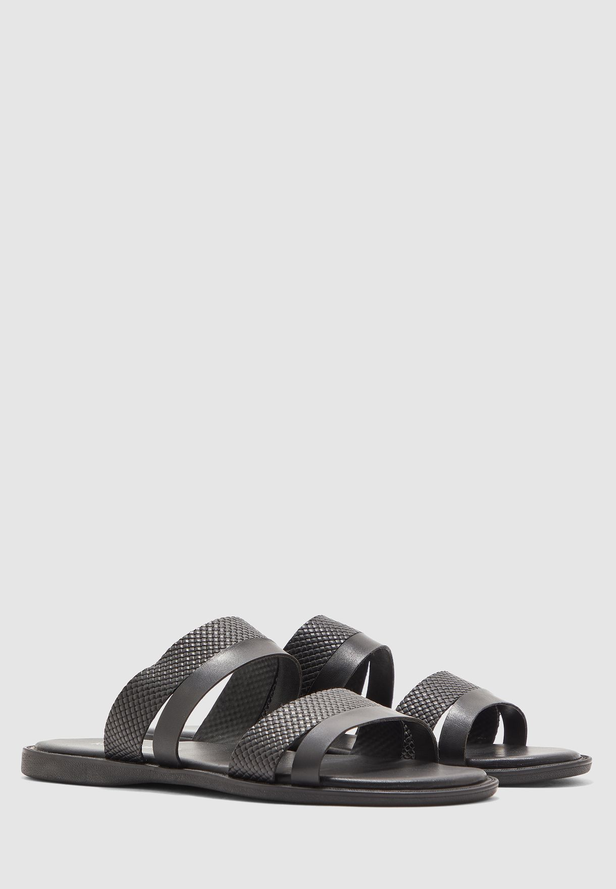 Leather Dual Strap Sandals