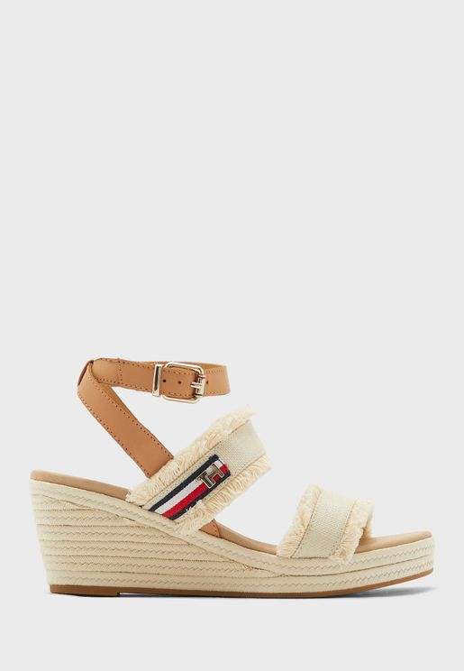 Fringes Mid Wedge Sandal