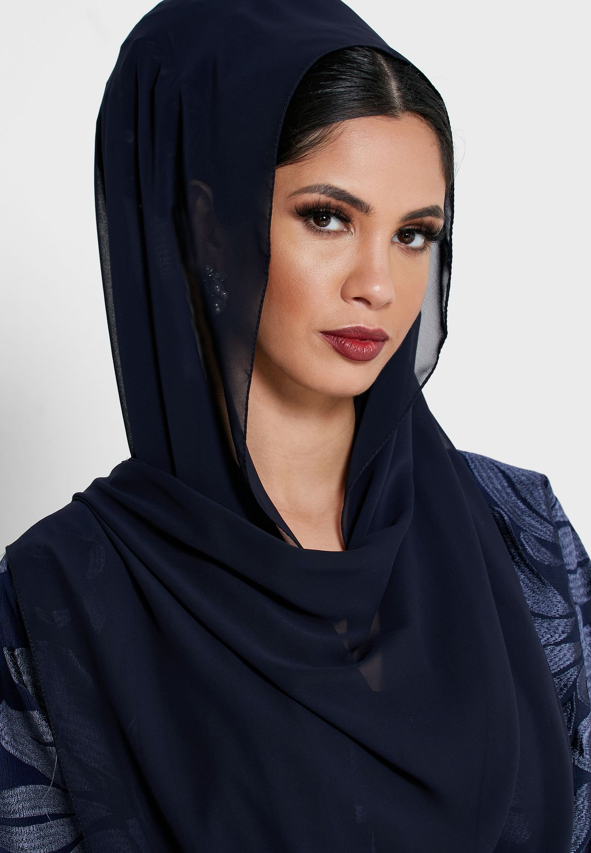 Embroidered Top Self Tie Abaya