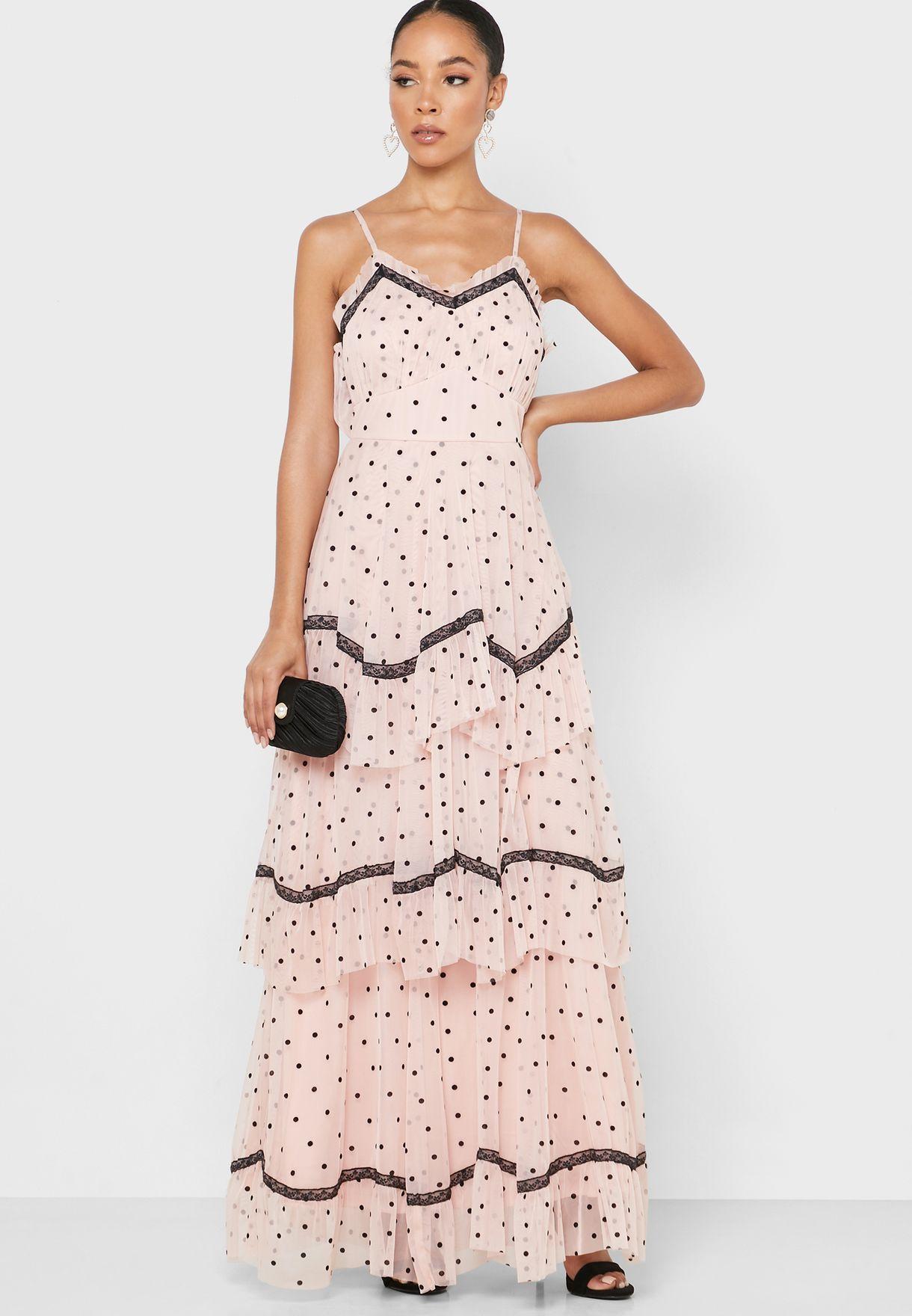 فستان مطبع بطبقات