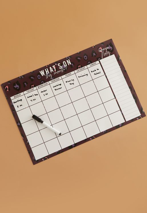 A3 Magnetic Monthly Planner