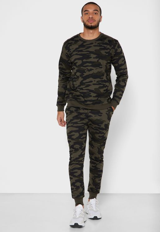 Camo Sweatshirt Set