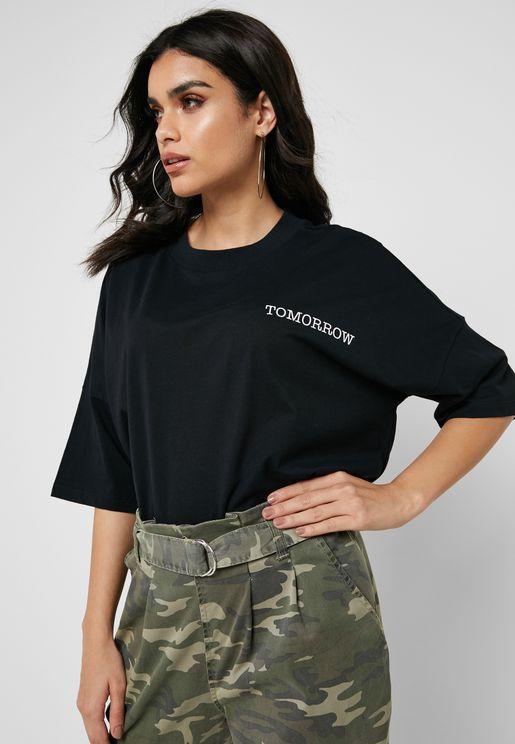 Slogan Short Sleeve T-Shirt