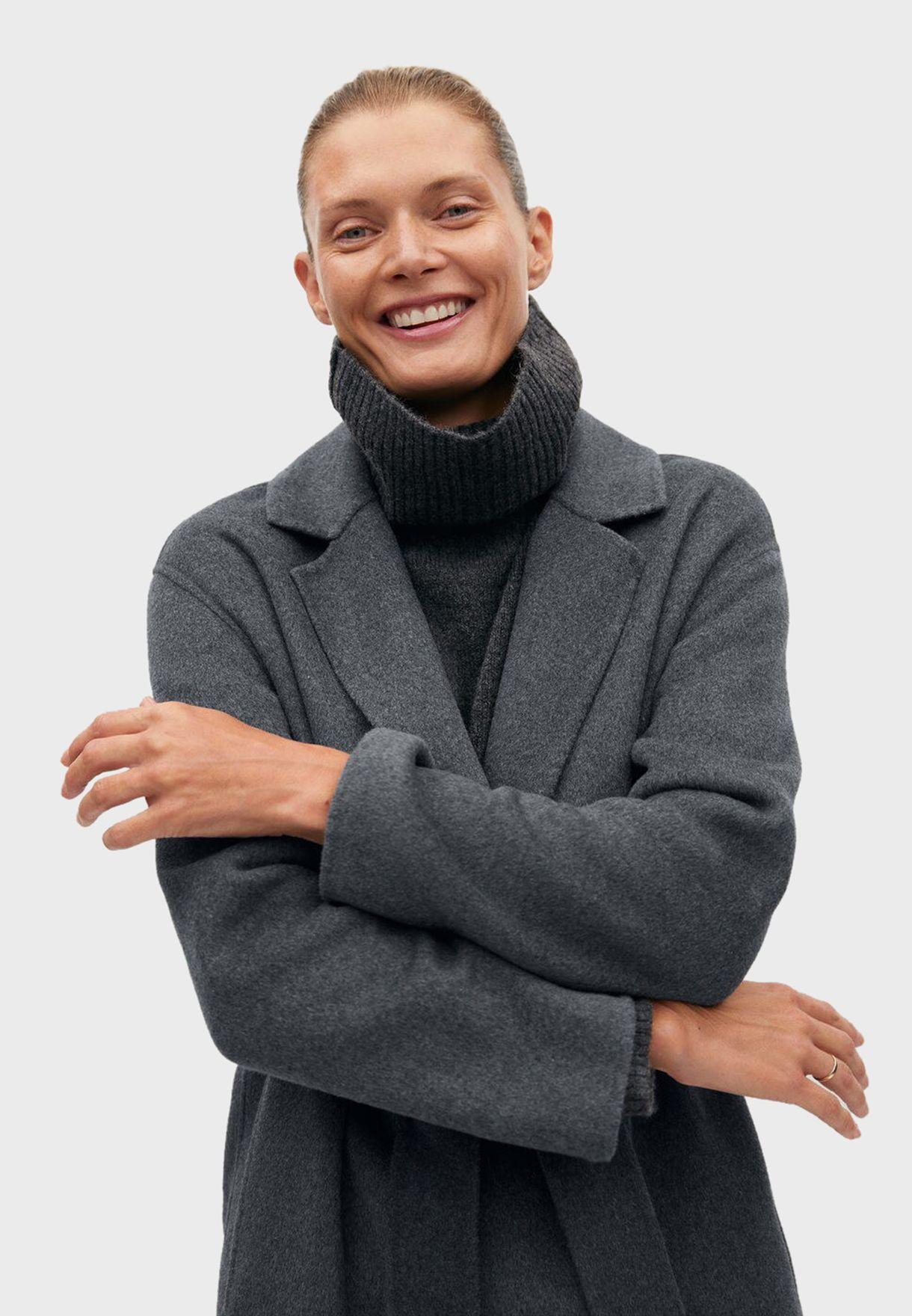 معطف باربطة خصر