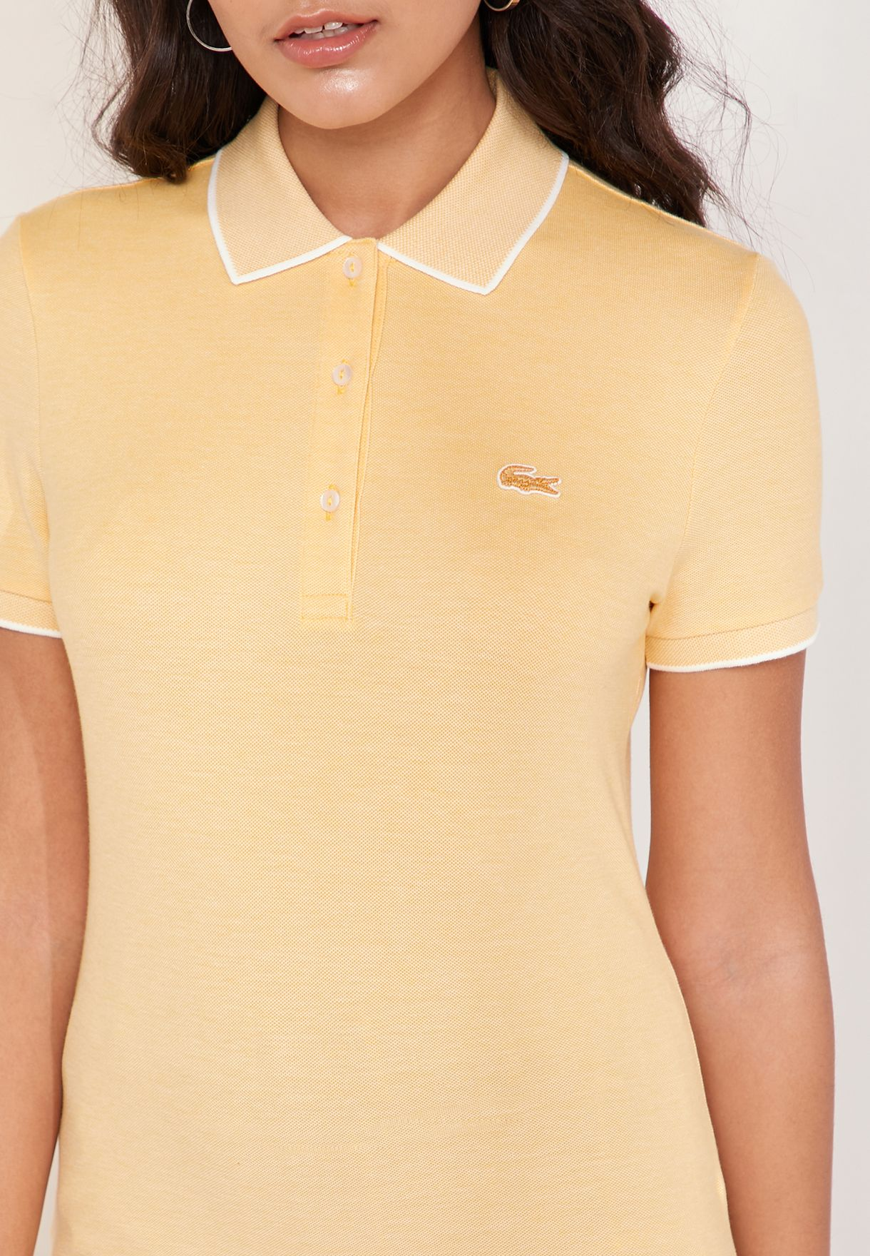 Contrast Trim Logo Polo T-Shirt