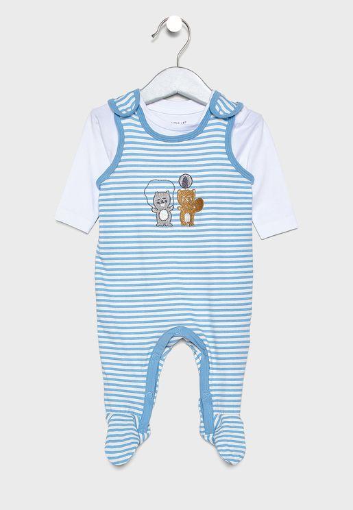 Infant Striped bodysuit set