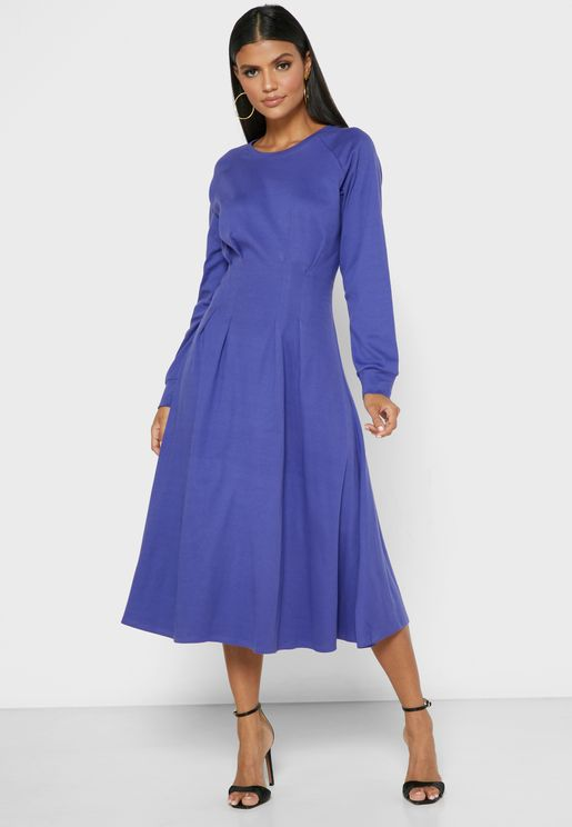 فستان بأكمام ريجلان