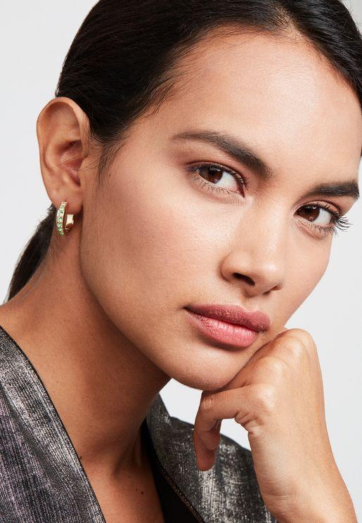 Seanna Small Crystal Hoop Earrings