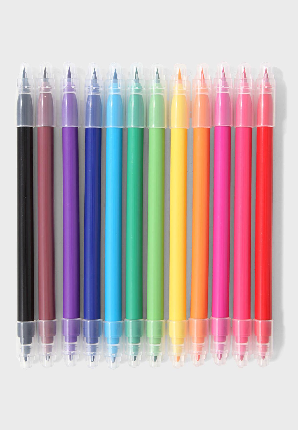 Set 12 Colors Pen With Case