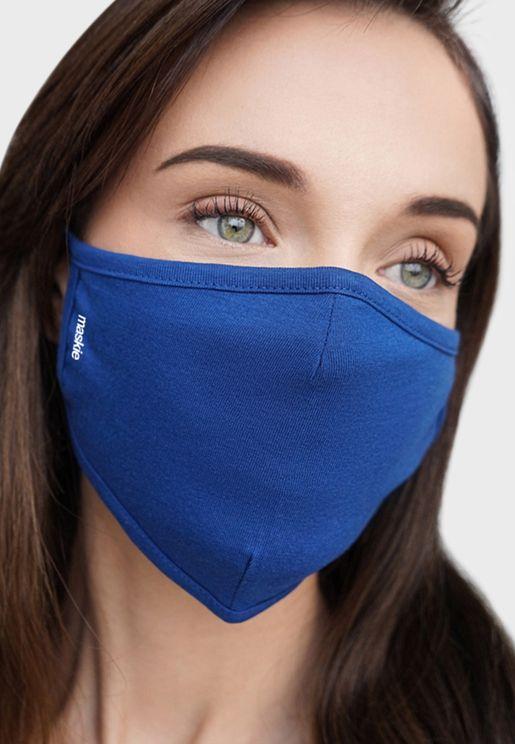 plus blue 5 Face Mask