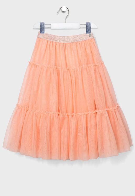 Kids Peach Skirt