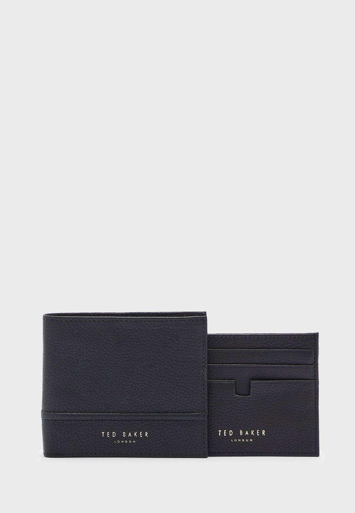 طقم هدايا محفظة نقود مع محفظة بطاقات