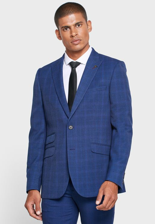 Checked Skinny Fit Blazer