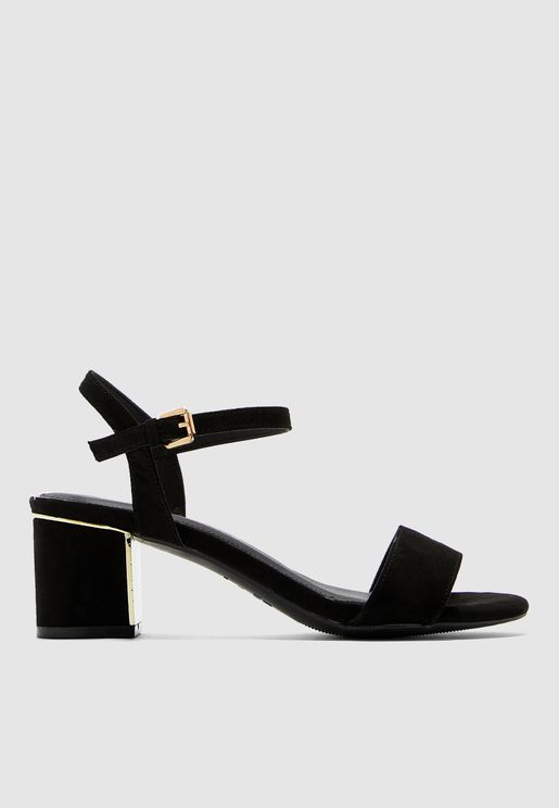 Wide Fit Block Heel Sandal