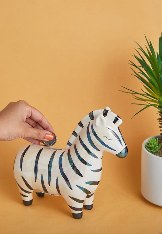 Zebra Money Box
