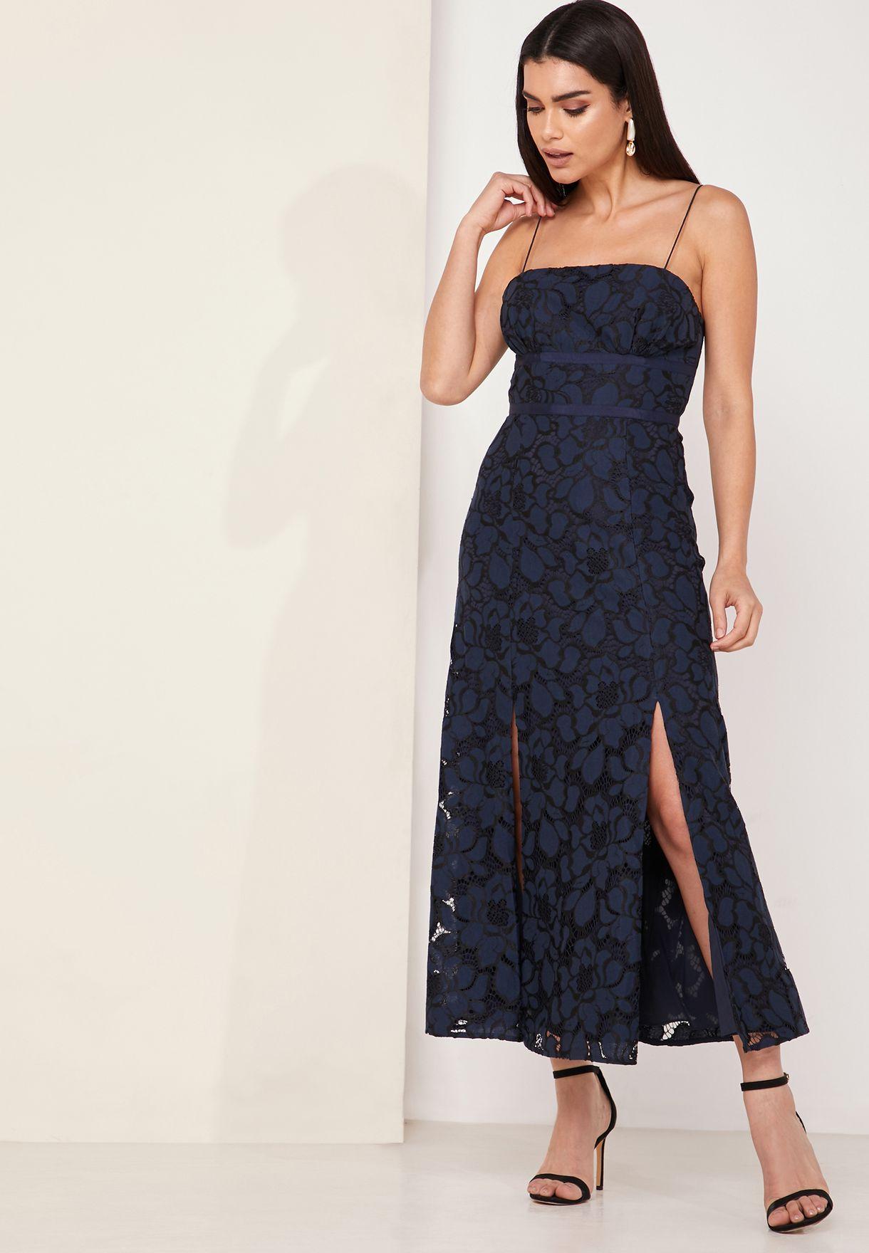 Honour Front Split Midi Dress