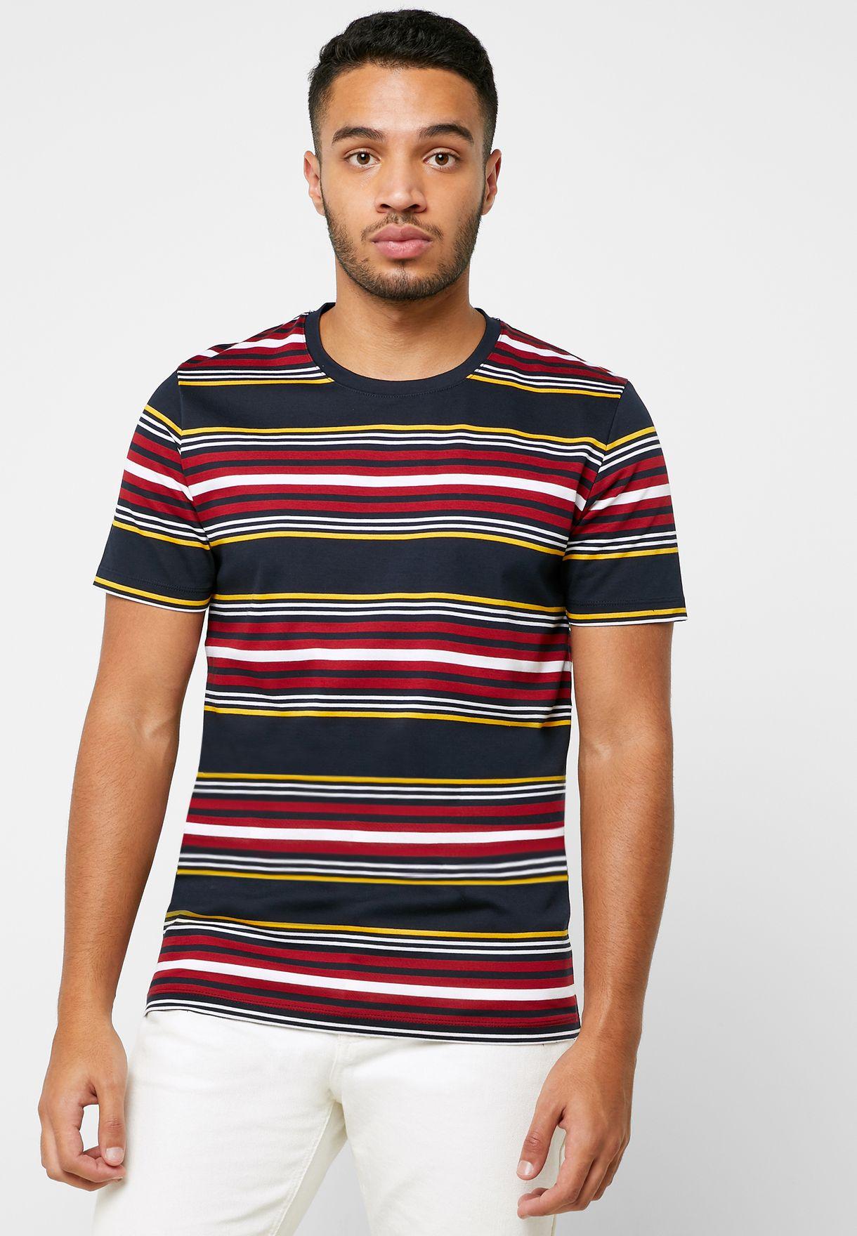 Mullan  Striped Crew Neck T-Shirt