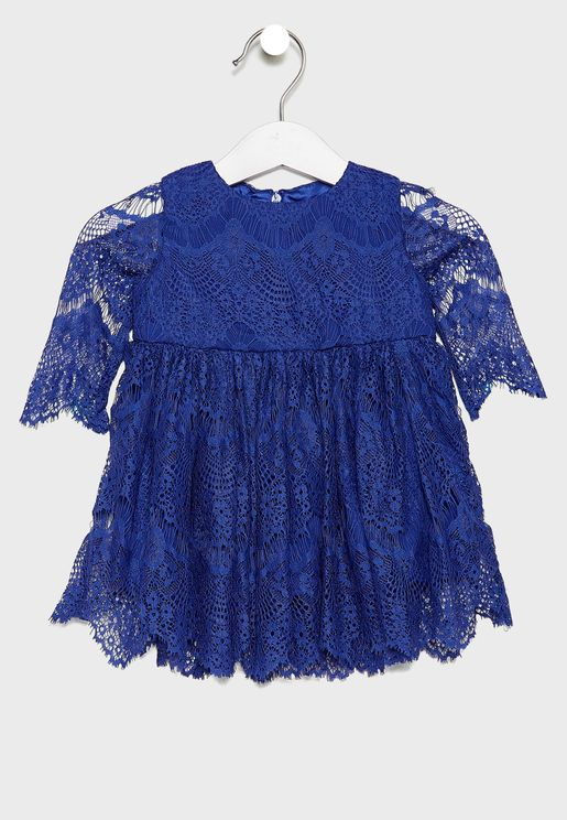 Infant Lace Embroidered Dress