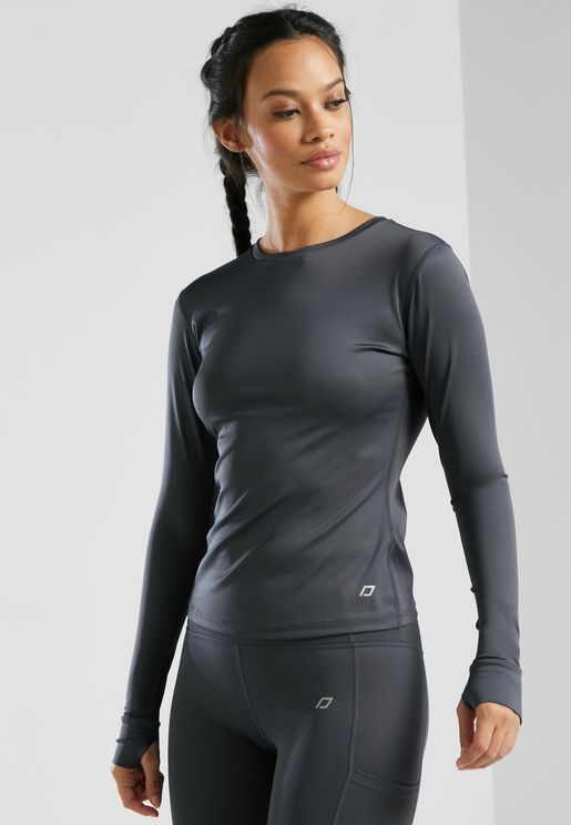 Long Sleeve Slim Fit Running Top