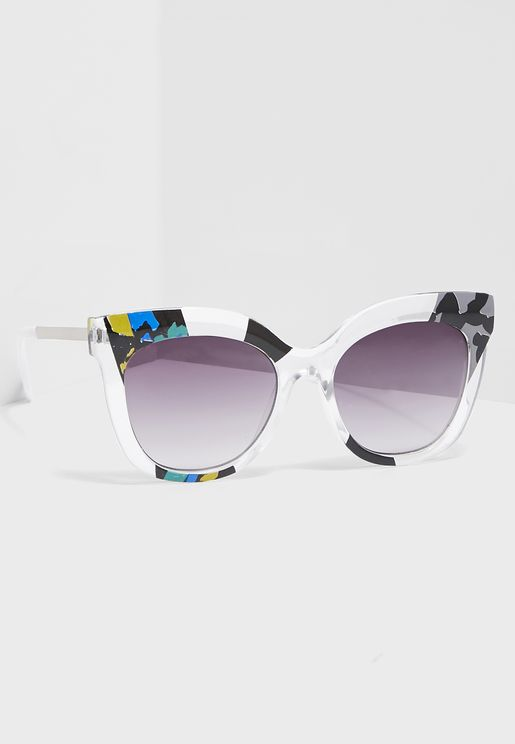 Print Detail Cat Eye Sunglasses