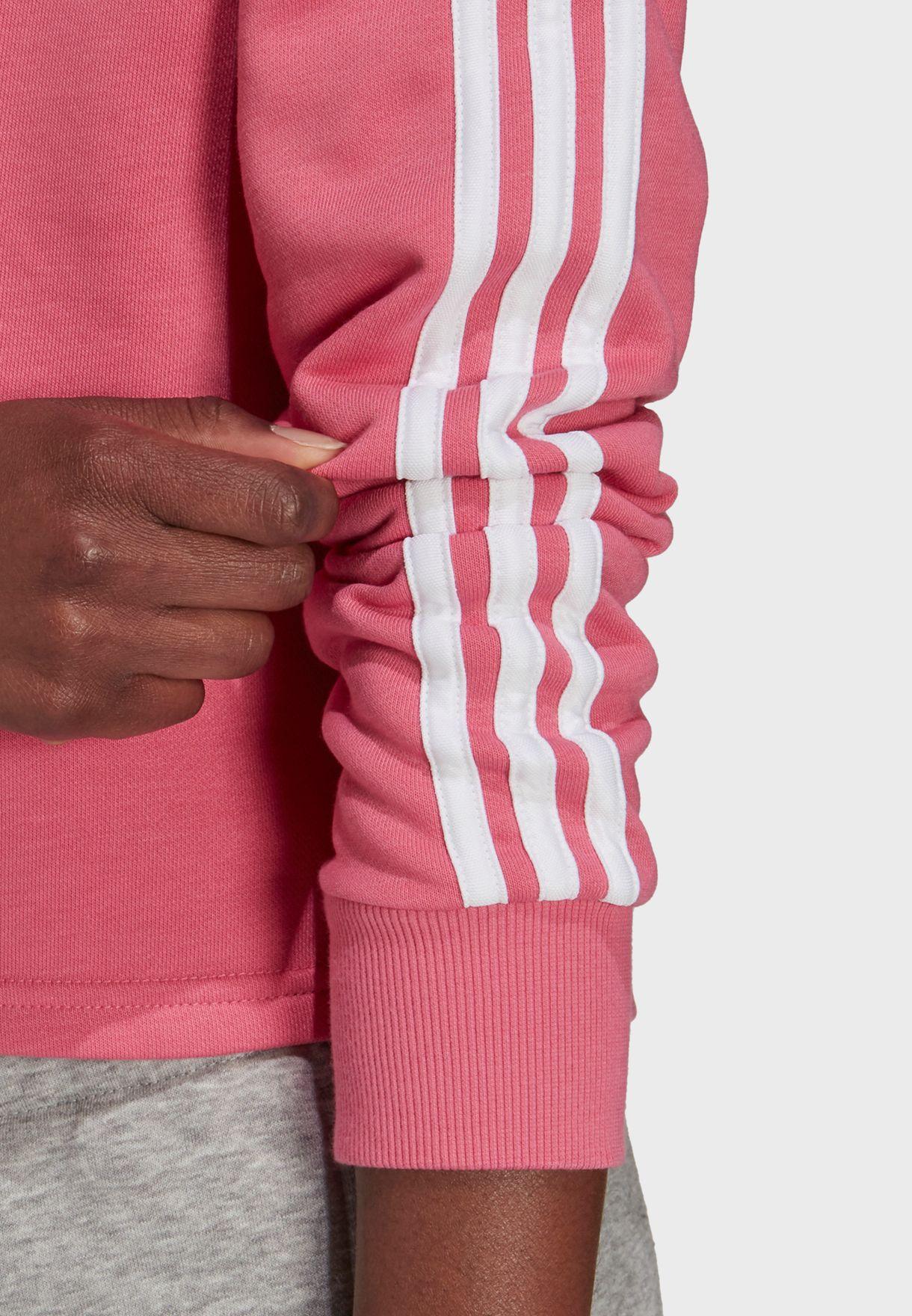 3 Stripe Cropped Hoodie
