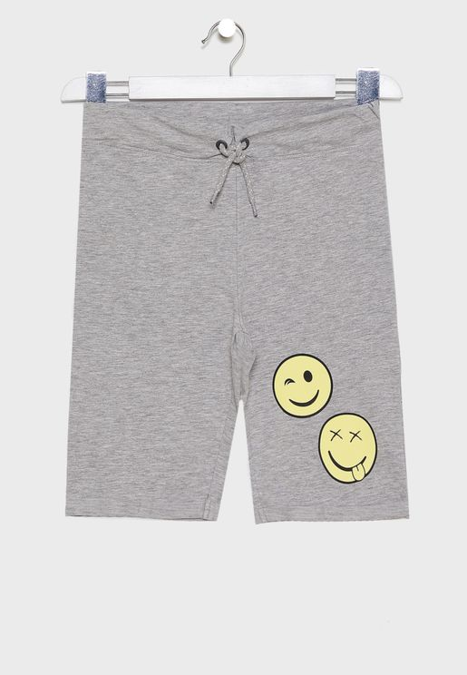 Kids Slogan Sweat Shorts