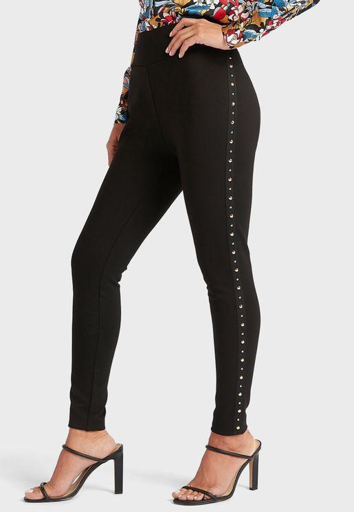 Side Stud Detail Leggings