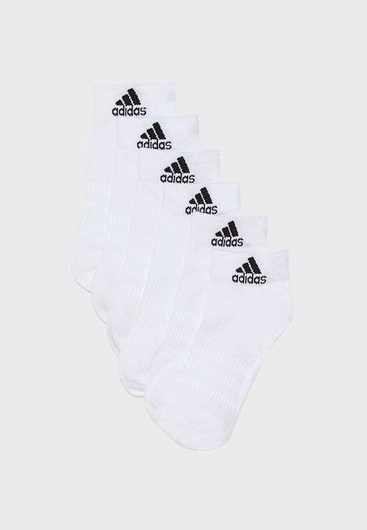 6 Pack Light Ankle Socks