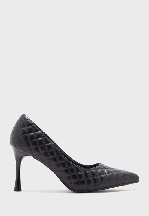 Quilted Pointed Pump