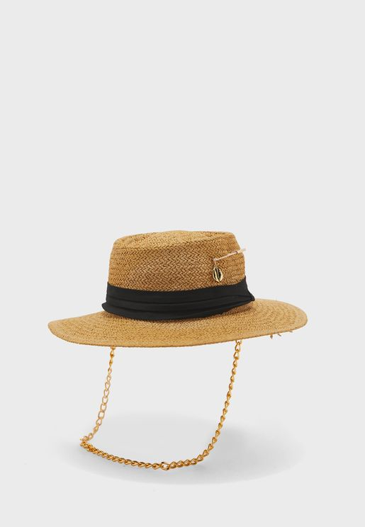 Take Me To Bali Chain Detail Hat