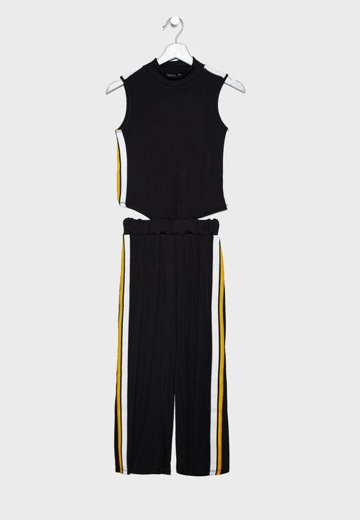 Teen Side Striped Jumpsuit