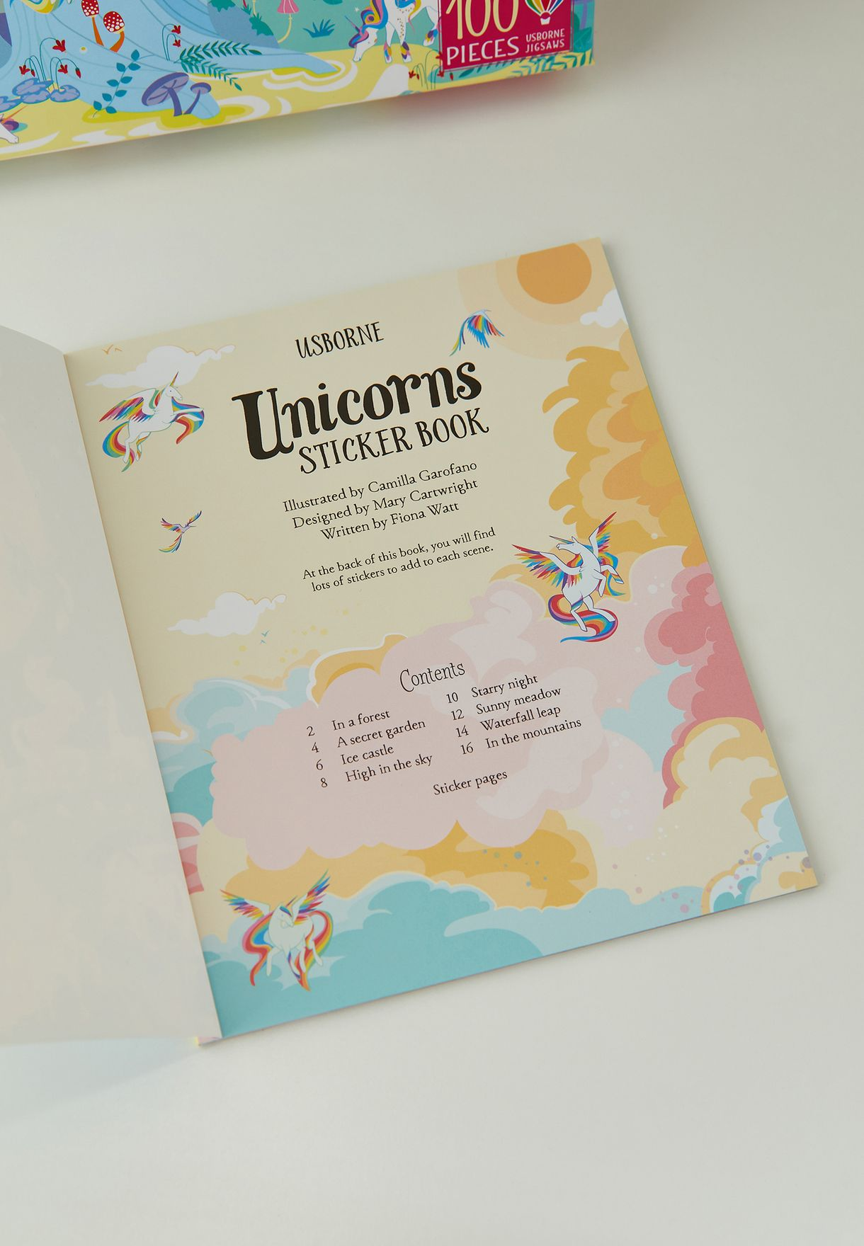 Unicorn 100-piece Jigsaw and Book