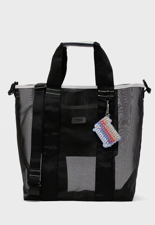 Double Handle Mesh Tote