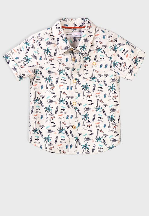 Kids Aop Short Sleeve Shirt