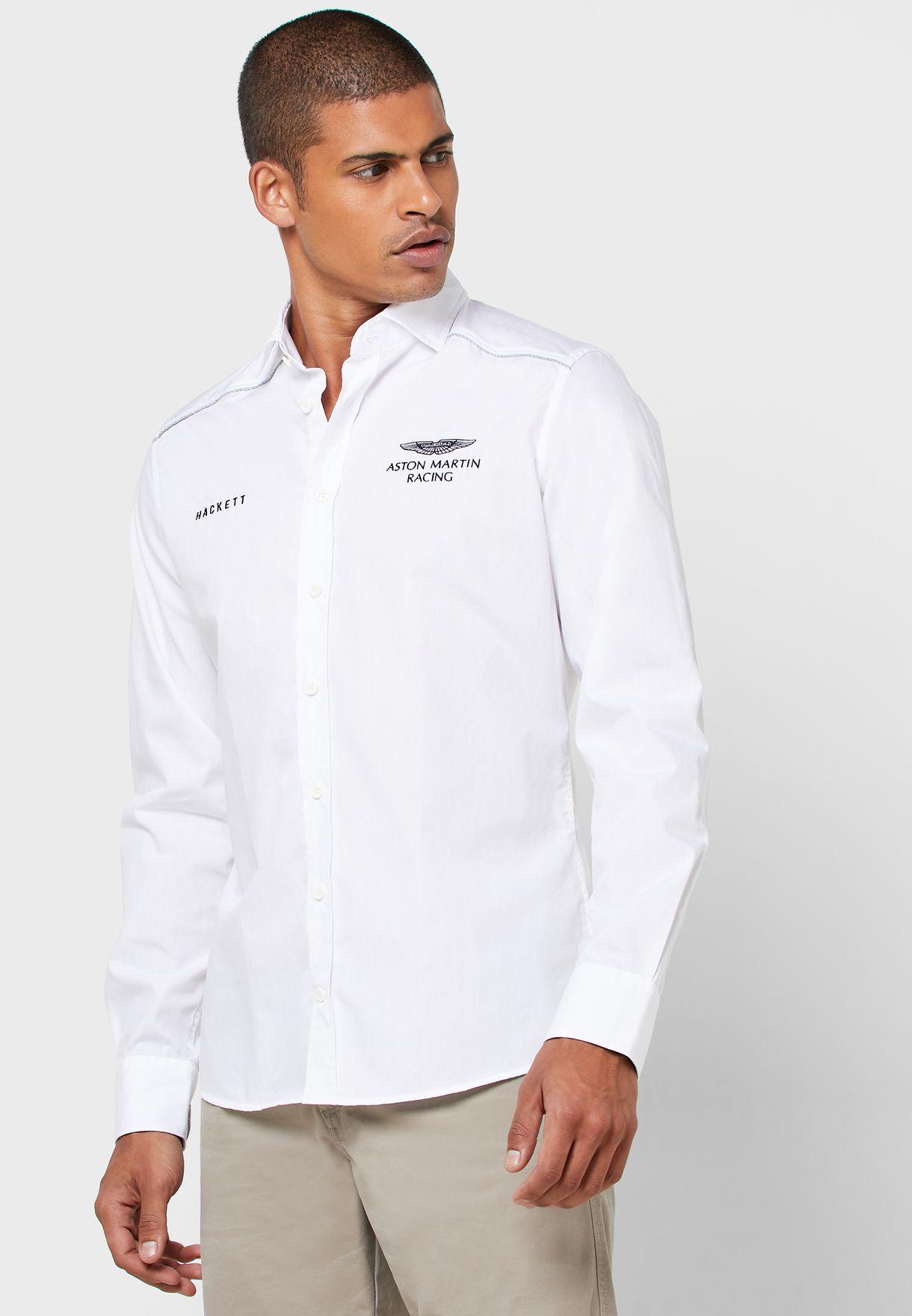 Aston Martin Logo Slim Fit Shirt