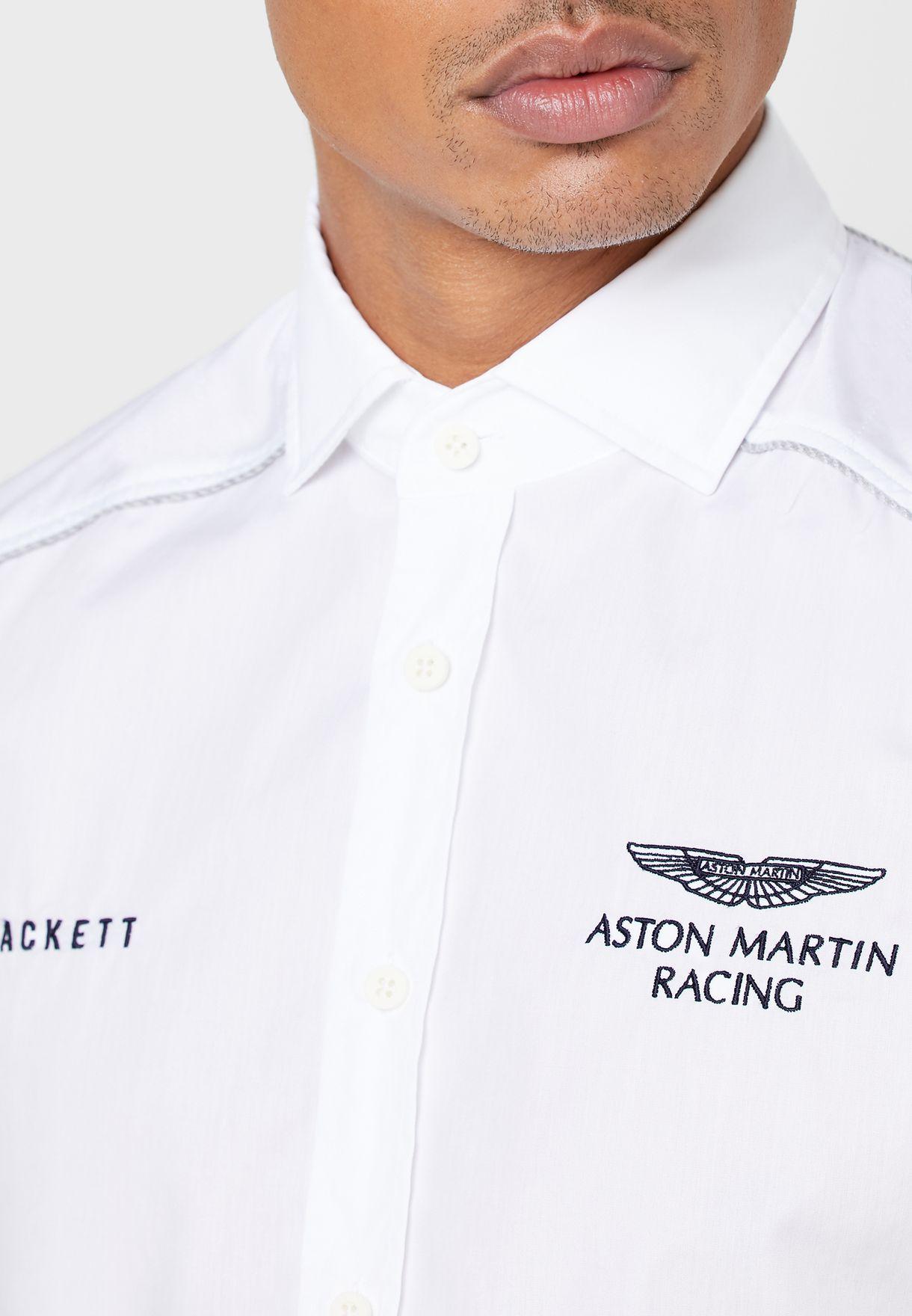 قميص بشعار سباق أستون مارتن